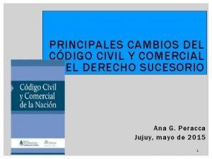 PRINCIPALES CAMBIOS DEL CDIGO CIVIL Y COMERCIAL EN