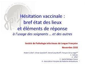 Hsitation vaccinale bref tat des lieux et lments