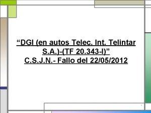 DGI en autos Telec Int Telintar S A
