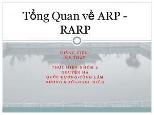 Tng Quan v ARP RARP GING VIN MS