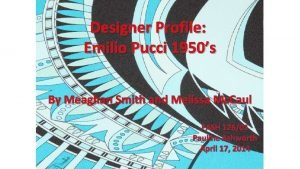 Designer Profile Emilio Pucci 1950s By Meaghan Smith