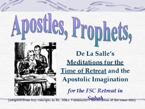 De La Salles Meditations for the Time of