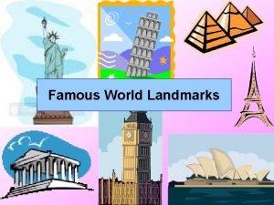 Famous World Landmarks The Eiffel Tower The Eiffel