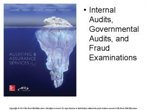Internal Audits Governmental Audits and Fraud Examinations Copyright
