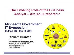 The Evolving Role of the Business Analyst Are