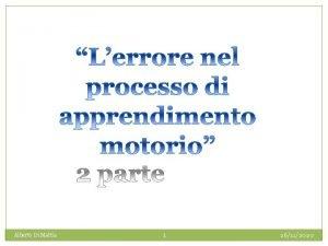 Alberto Di Mattia 1 26112020 La difficolt nel