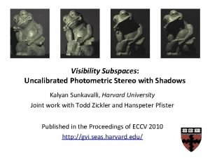 Visibility Subspaces Uncalibrated Photometric Stereo with Shadows Kalyan