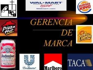 GERENCIA DE MARCA Gerencia de Marca Qu es