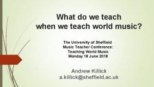 What do we teach when we teach world