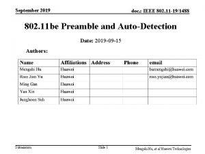 September 2019 doc IEEE 802 11 191488 802