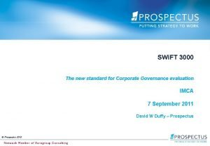 SWi FT 3000 The new standard for Corporate