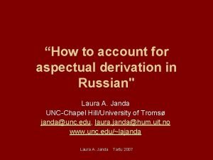 How to account for aspectual derivation in Russian
