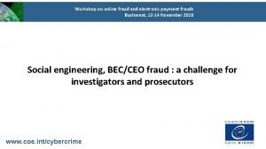 Workshop on online fraud and electronic payment frauds