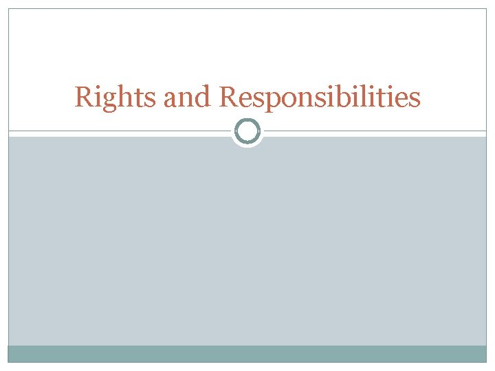 Rights and Responsibilities Teachers Rights and Responsibilities Applying