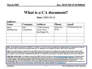 March 2005 doc IEEE 802 19 050006 r