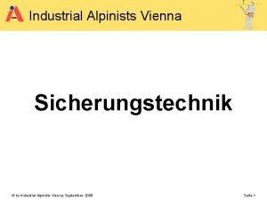 Industrial Alpinists Vienna Sicherungstechnik by Industrial Alpinists Vienna