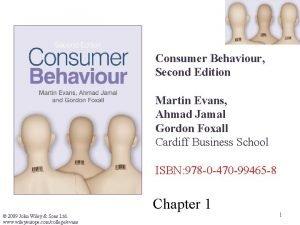 Consumer Behaviour Second Edition Martin Evans Ahmad Jamal