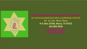 The Davidian Seventhday Adventists Association an unincorporated Association