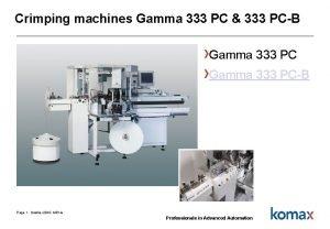 Crimping machines Gamma 333 PC 333 PCB Gamma