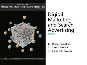 Digital Marketing and Search Advertising 1 Digital marketing