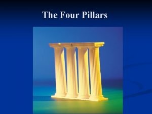 The Four Pillars Four Pillars Medication SelfManagement n