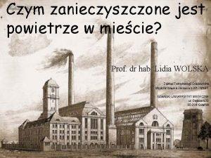 Czym zanieczyszczone jest powietrze w miecie Prof dr