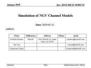 January 2019 doc IEEE 802 11 190017 r