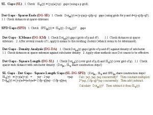 SL Gaps SL 1 Check SLpy ypoyp gaps