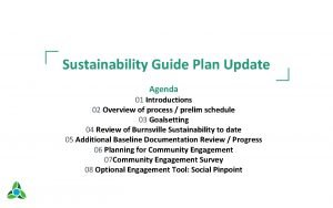 Sustainability Guide Plan Update Agenda 01 Introductions 02