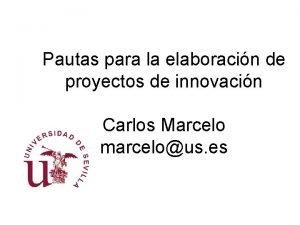 Pautas para la elaboracin de proyectos de innovacin