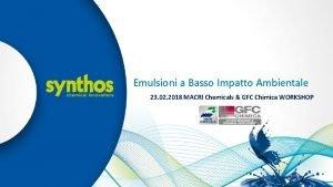 Emulsioni a Basso Impatto Ambientale Kliknij aby edytowa