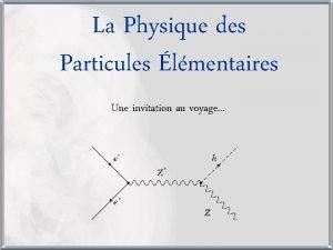 La Physique des Particules lmentaires Une invitation au