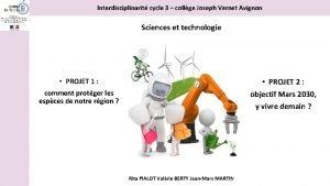 Interdisciplinarit cycle 3 collge Joseph Vernet Avignon Sciences