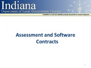 Assessment and Software Contracts 1 Contracts IC 6