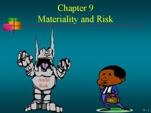 Chapter 9 Materiality and Risk Audit Risk CPA