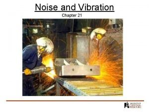 Noise and Vibration Chapter 21 Noise History 100
