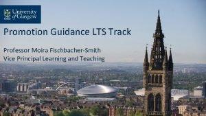 Promotion Guidance LTS Track Professor Moira FischbacherSmith Vice
