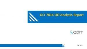 GLT 2014 QO Analysis Report Feb 2015 2014