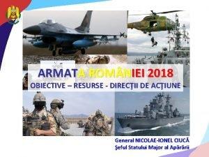 ARMATA ROM NIEI 2018 OBIECTIVE RESURSE DIRECII DE