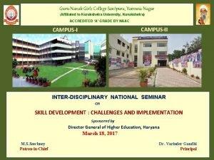 Guru Nanak Girls College Santpura Yamuna Nagar Affiliated