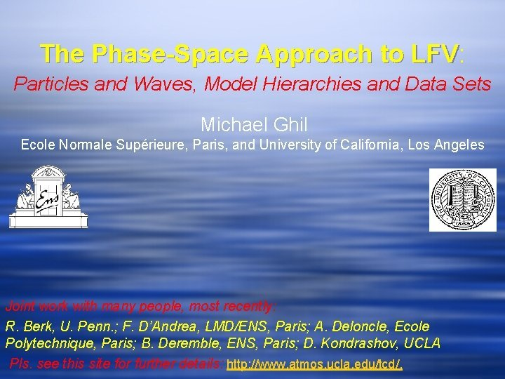 The PhaseSpace Approach to LFV LFV Particles and