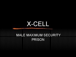 XCELL MALE MAXIMUM SECURITY PRISON XCELLS MISSION STATEMENT