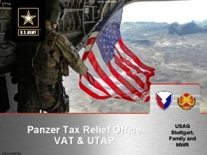 UNCLASSIFIED Panzer Tax Relief Office VAT UTAP UNCLASSIFIED