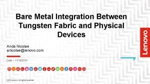 Bare Metal Integration Between Tungsten Fabric and Physical