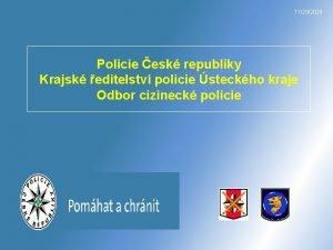 11292020 Policie esk republiky Krajsk editelstv policie steckho