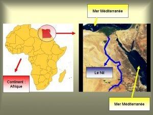 Mer Mditerrane Le Nil Continent Afrique Mer Mditerrane