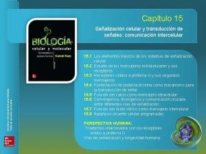 BIOLOGA CELULAR Y MOLECULAR Captulo 15 Sealizacin celular