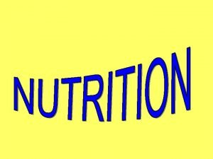 What Is Nutrition Nutrient A chemical substance in