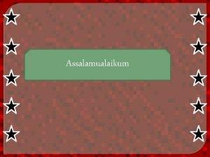 Assalamualaikum Unsur unsur bangun ruang BY RESITA DEVI