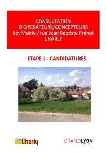 CONSULTATION DOPERATEURSCONCEPTEURS Ilot Mairie rue Jean Baptiste Frnet